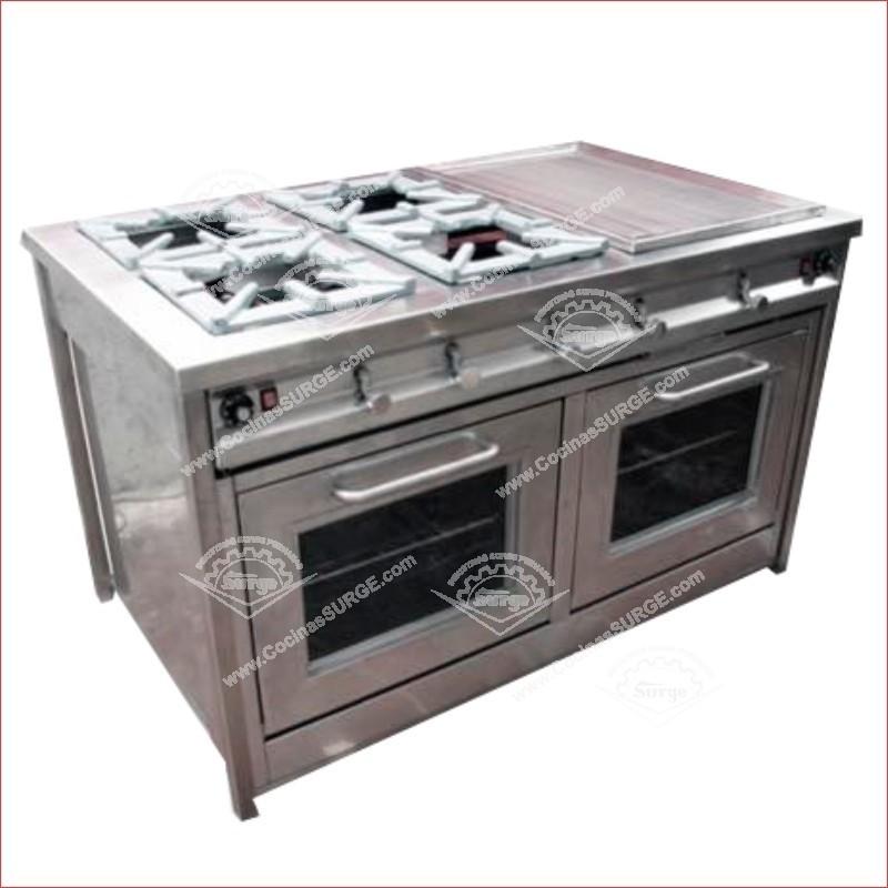 Cocina surgeindustrial en acero inoxidable 4h plancha y - Plancha industrial para cocina ...