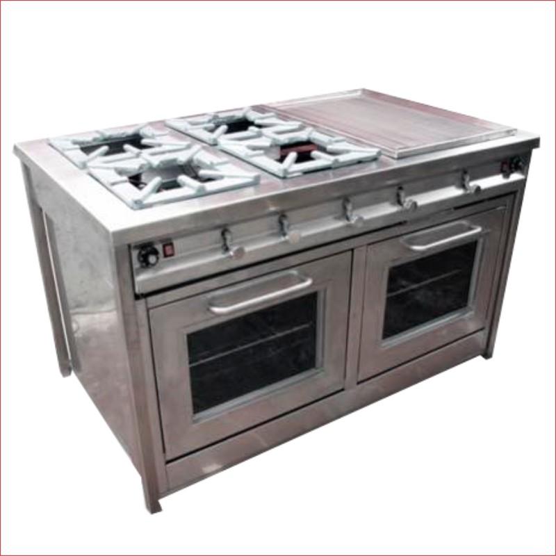 Cocina surgeindustrial en acero inoxidable 4h plancha y for Cocinas industriales surge