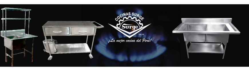 Mesas y lavaderos cocinas surge for Cocinas industriales surge